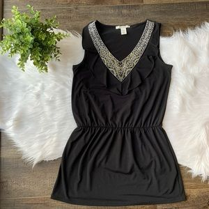 WHBM embellished stretch top